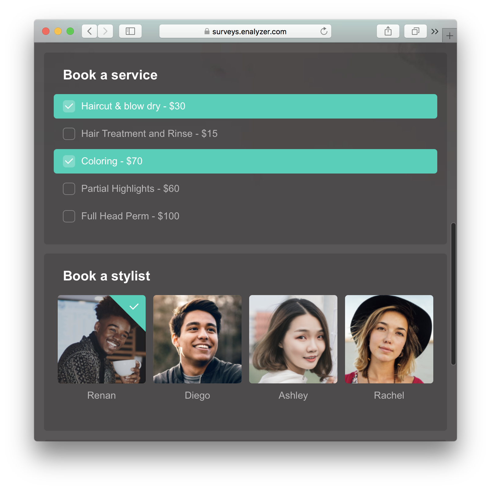 Create engaging online order forms with Enalyzer | Know Better